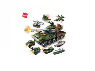 Kétéltű páncélos harckocsi, 8 az 1-ben Lego kompatibilis építőjáték készlet (QMAN, 1803, 6-12 év)