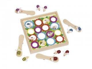 Kézügyesség fejlesztő, Repülő méhecskék/manók (Goki, ügyességi fa társasjáték, 3-8 év)