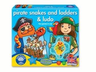 Ki nevet a végén és Kígyók és létrák, Kalózos  (Orchard, gyerek társasjátékok, 4-12 év)