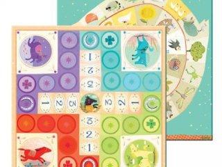 Ki nevet a végén és lépegetős játék (Djeco, 5226, kétféle klasszikus gyerek társasjáték, 3-6 év)