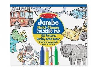 Kifestő könyv, Nagyméretű, Állatok és járművek (MD, 4226, 50 oldalas színező füzet, 3-6 év)