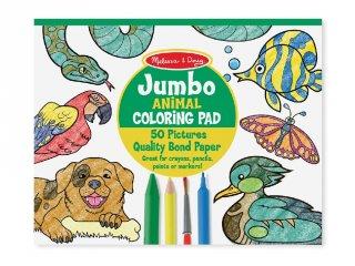 Kifestő könyv, Nagyméretű, Állatok (MD, 4200, 50 oldalas színező füzet, 3-6 év)
