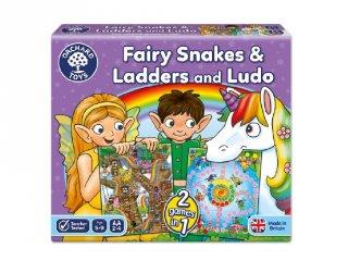 Kígyók és létrák, Ludo 2in1 családi társasjáték tündérekkel (OR, 5-9 év)