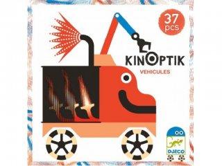 Kinoptik, Járművek (Djeco, 5601, 3D-s optikai puzzle, 5-8 év)