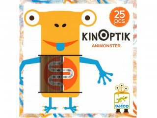 Kinoptik, Szörnyek és állatok (Djeco, 5600, 3D-s, mágneses optikai építőjáték, 5-8 év)