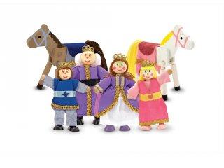 Királyi család lovakkal, fa szerepjáték (MD, 286)