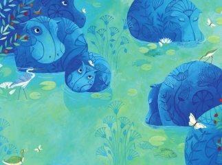 Kis Nun, a kék víziló, Papírszínház mese (Géraldine Eischner)