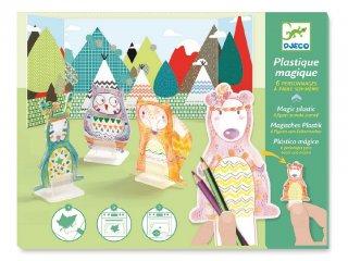 Kisüthető bábuk, Erdei állatok (Djeco, 9493, kreatív játék, 7-13 év)