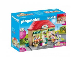 Kisvárosi virágbolt, Playmobil szerepjáték (70016, 4-10 év)