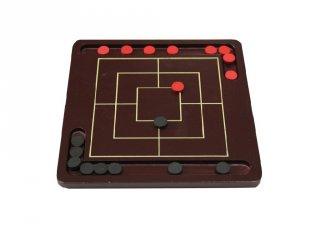 Klasszikus malom játék (FP, kétszemélyes fa stratégiai társasjáték, 5-99 év)