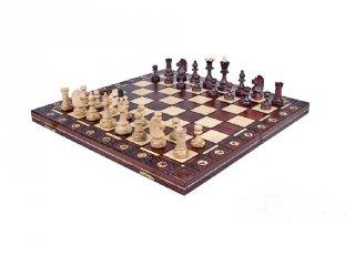 Klasszikus sakk készlet fából (42 x 42 cm)