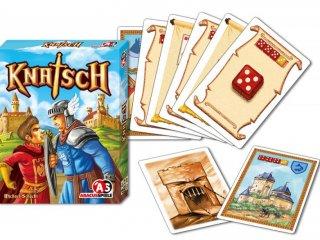 Knatsch, Kockapóker középkori módra! (Abacusspiele, stratégiai társasjáték-, és kockajáték, 8-99 év)