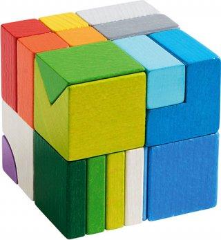 Kockamix 3D, 19 db-os Haba logikai építőjáték fából (3-12 év)