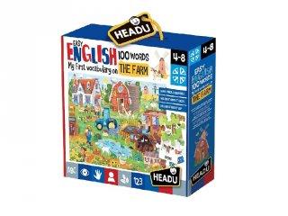 Könnyen angolul, 100 szó Farm angol nyelvtanulást segítő játék (HED, 4-8 év)