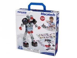 Konstrukciós játék (Miniland, 95015, Mecatech, 106 db-os építőjáték, 4-9 év)