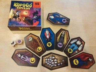 Kopogó koporsók, Vámpíros memóriajáték (gyorsasági kártyajáték némi csavarral, na meg néhány vámpírral és koporsóval, 8-99 év)