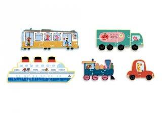 Közlekedés mini kirakó, bébi puzzle (VL, 2-4 év)