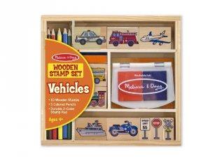 Kreatív nyomda készlet: Autós, járműves (Melissa&Doug, 12409, kreatív szett, 4-9 év)