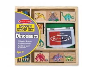 Kreatív nyomda készlet: dinoszauruszos (Melissa&Doug, 1633, kreatív szett, 3-9 év)