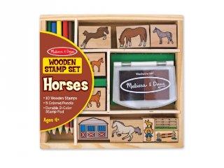 Kreatív nyomda készlet: lovas (Melissa&Doug, 2410, kreatív szett, 4-9 év)