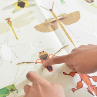 Kreatív óriásplakát készítés 44 db matricával, Rovarok (Poppik, 6-12 év)