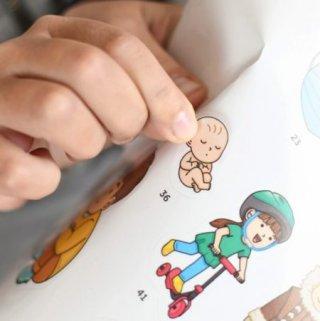 Kreatív óriásplakát készítés 49 db matricával, Az emberi test (Poppik, 3-7 év)