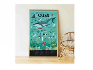 Kreatív óriásplakát készítés 59 db matricával, Óceán (Poppik, 6-12 év)