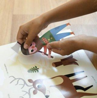 Kreatív óriásplakát készítés 60 db matricával, Erdő (Poppik, 3-8 év)