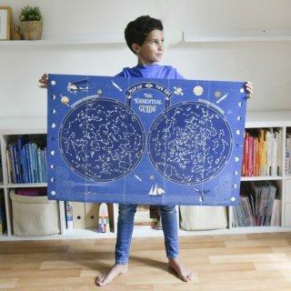 Kreatív óriásplakát készítés 640 db matricával, Világűr (Poppik, 7-12 év)