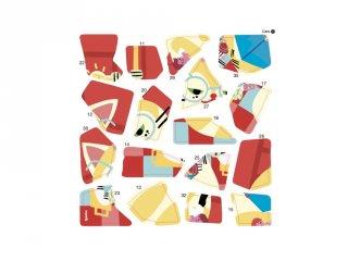 Kreatív poszter készítés 105 db puzzle matricával, Cicák (Poppik, 5-7 év)