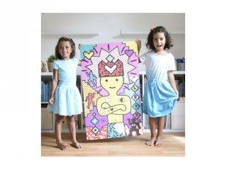 Kreatív poszter készítés 1600 db puzzle matricával, Pop művészet (Poppik, 7-12 év)