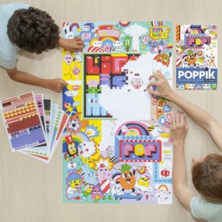 Kreatív poszter készítés 1600 db puzzle matricával, Utcai művészet (Poppik, 7-12 év)