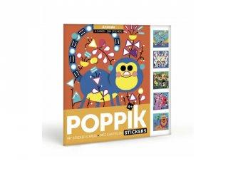 Kreatív poszter készítés 360 db puzzle matricával, Állatok (Poppik, 4-6 év)