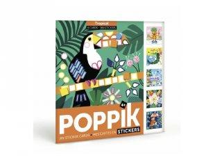 Kreatív poszter készítés 360 db puzzle matricával, Trópus (Poppik, 4-6 év)