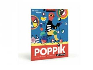 Kreatív poszter készítés 520 db puzzle matricával, Modern művészet (Poppik, 4-7 év)