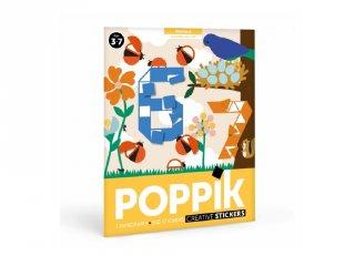 Kreatív poszter készítés 520 db puzzle matricával, Számok (Poppik, 3-7 év)