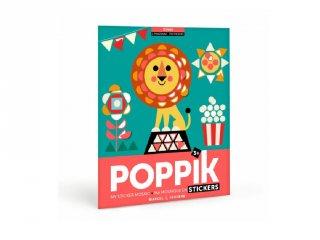 Kreatív poszter készítés 750 db puzzle matricával, Cirkusz (Poppik, 3-6 év)