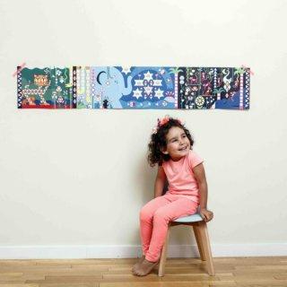 Kreatív poszter készítés 750 db puzzle matricával, Dzsungel (Poppik, 3-7 év)