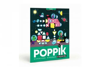 Kreatív poszter készítés 750 db puzzle matricával, Világűr (Poppik, 3-7 év)