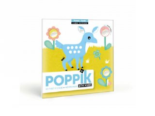 Kreatív poszter készítés 96 db puzzle matricával, Erdei állatok (Poppik, 2-4 év)