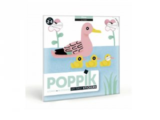 Kreatív poszter készítés 96 db puzzle matricával, Vízi állatok (Poppik, 2-4 év)