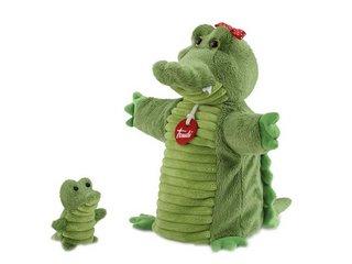 Krokodil Kesztyű- és ujjbáb, anya és kicsinye (bábjáték, 3-12 év)