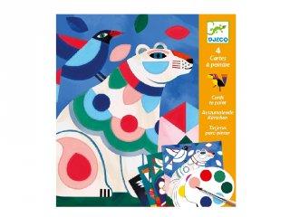 Különleges színező készlet Furcsa bestiák, Djeco kreatív szett - 9658 (6-9 év)
