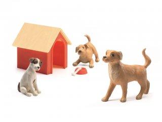 Kutyák (Djeco, 7818, kiegészítők babaházakhoz, 4-10 év)