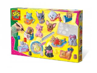Kutyák és cicák 3D gipszkiöntő készlet, kreatív játék (5-10 év)