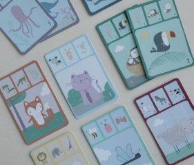 Kvartett kártyajáték Állatok, Little Dutch társasjáték (4481, 3-6 év)