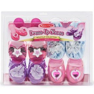 Lányos cipő kollekció, 4 db-os (Melissa&Doug, 18544, lányos jelmez kiegészítő, 3-5 év)