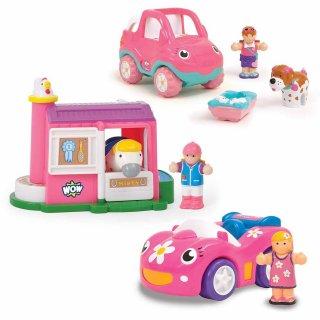 Lányos nap, 3 jármű + 1 ló (Wow Toys, szerepjáték, 1-5 év)