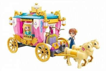 Leah hercegkisasszony lovashintója, Lego kompatibilis építőjáték készlet (QMAN, 2614, 6-12 év)