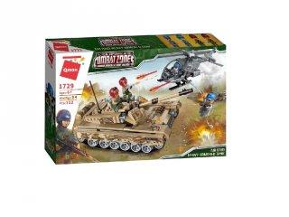 Légitámadás a tank ellen, Lego kompatibilis építőjáték készlet (QMAN, 1729, 6-12 év)